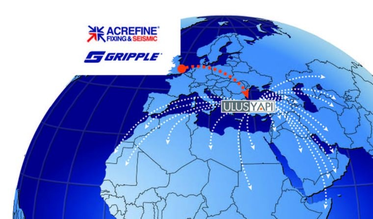 Acrefine and Gripple Consigned MENA and the Caucasus Regions to Ulus Yapı
